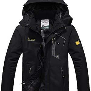 MAGCOMSEN Men's Winter Coats Warm Fleece Parka Waterproof Ski Snowboarding Jacket with Multi-Pockets