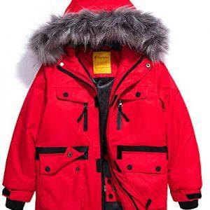 Wantdo Boys Waterproof Ski Jacket Windproof Warm Winter Coat Outdoor Parka