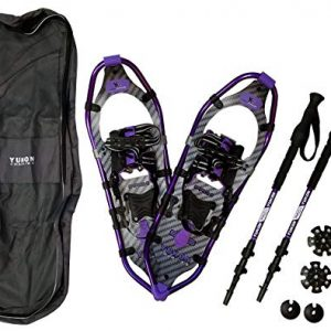 Yukon Charlie's Pro II Snowshoe Women 8x25 (up to 200 lbs) kit w/Poles Purple