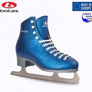 Botas - Model: Anita/Made in Europe (Czech Republic) / Figure Ice Skates for Women, Girls/Nicole Blades/Blue Color