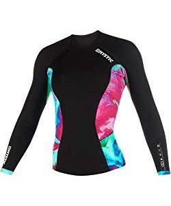 Mystic Watersports - Surf Kitesurf & Windsurfing Womens Diva 2mm Long Sleeve Neoprene Wetsuit Coat Jacket Aurora