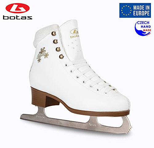Botas - Model: Stella/Made in Europe (Czech Republic) / Figure Ice Skates for Women, Girls, Kids/Nicole Blades/White Color