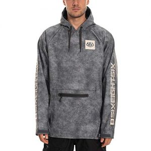 686 Men's Pullover Waterproof Hoody - Softshell Fleece Lined Fabric