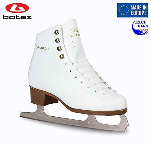 Botas - Model: Regina/Made in Europe (Czech Republic) / Figure Ice Skates for Women, Girls, Kids/Nicole Blades/White Color