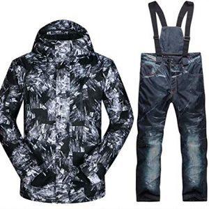 OLEK Men Waterproof Ski Snowboard Jacket Snow Snowboarding Mountain Coat Pants Set