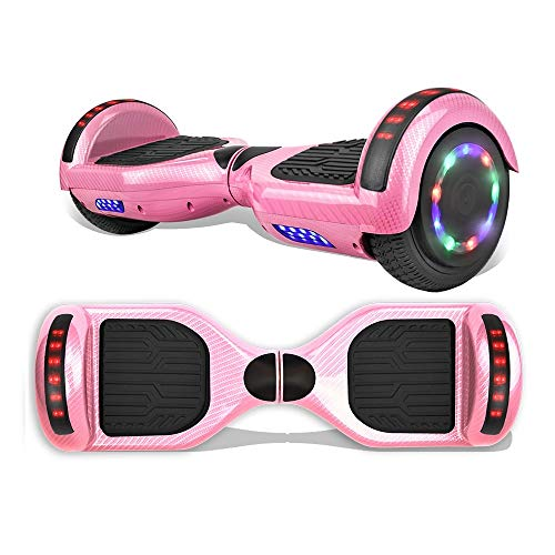 """TPS 6.5"""" Hoverboard Electric Self Balancing Scooter with Wireless Speaker and LED Lights for Kids and Adults - UL2272 Safety Certified"""