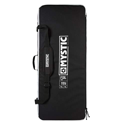 Mystic Watersports - Surf Kitesurf & Windsurfing Foilbag Travel Daypack - Black - Shoulder Strap. Transparent Inner Pocket