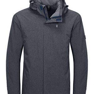 Little Donkey Andy Men's Waterproof Ski Snowboarding Jacket Windproof Warm Coat with Detachable Hood