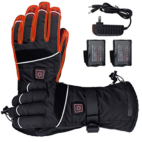 ELEKHEAL Rechargeable Battery Heated Gloves for Men Women Outdoor Indoor Electric Hand Warmer Glove for Motorcycle Skiing Hunting Cycling Winter Thermal Heated Gloves