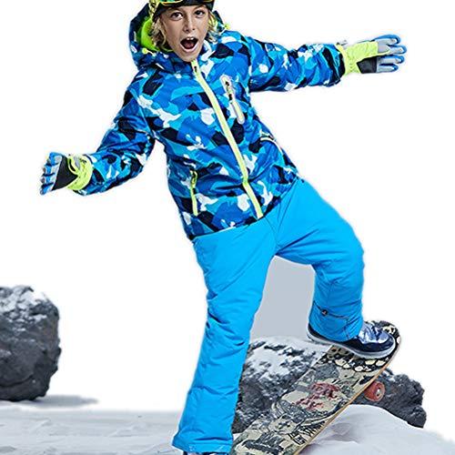 Skijakkeset Youth Girls Boys Snow Suit 2Pcs Winter Warm Outdoor Mountain Waterproof Windproof Snowboarding Skiing Jackets with Snow Ski Bib Pants US 4-16
