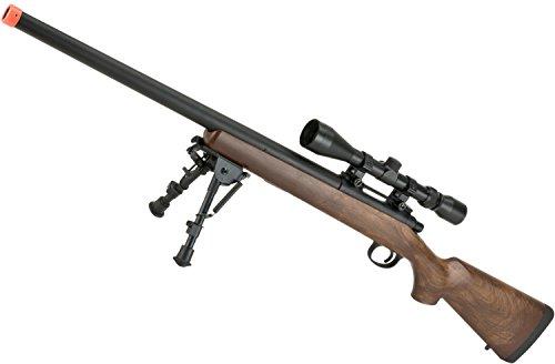 Evike - CYMA VSR-10 Bolt Action Airsoft Sniper Rifle w/Scope Rail (400~450 FPS) - (Wood/Polymer Options