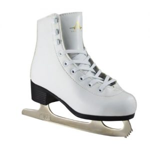 American Athletic Shoe Girl's American Leather Lined Figure Skates