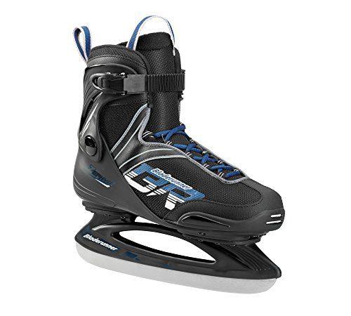 Bladerunner Ice by Rollerblade Zephyr Men's Adult Ice Skates, Black and Blue, Recreational, Ice Skates