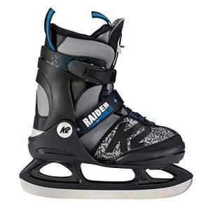 K2 Skate Boy's Raider Ice Skate, Gray Black