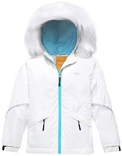 Wantdo Girl's Waterproof Ski Jacket Warm Winter Jacket Raincoat with Fur Hood