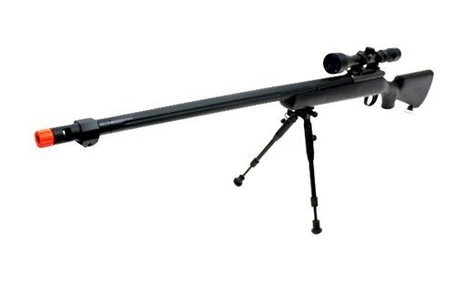 510 fps wellfire vsr-10 urban combat full metal bolt action sniper rifle w/ 3-9x40 scope & bipod package(Airsoft Gun)