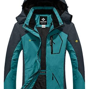 GEMYSE Women's Mountain Waterproof Ski Snow Jacket Winter Windproof Rain Jacket