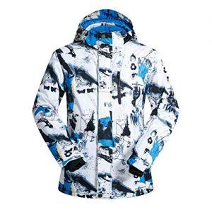 OLEK Men's Waterproof Ski Snowboarding Jacket Windproof Snow Snowboard Coat and Pants Set