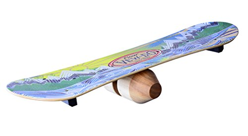 WODFitters Vew-Do Flow Balance Board with Patented Track and Rock Design - Provides Exceptional Toe/Heel and Rotational Balance for Snowboarding, Wake