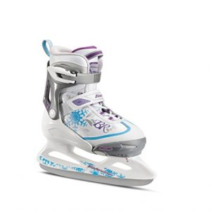 Bladerunner Ice by Rollerblade Micro Ice Girls, Junior, Adjustable, White and Blue, Ice Skates