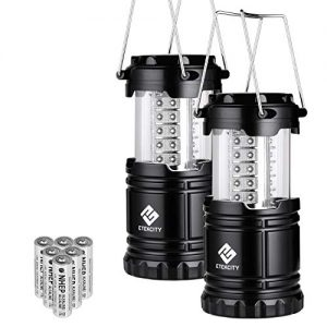 Etekcity LED Camping Lantern Collapsible Flashlight Portable Lamp AA Battery Powered Light, a Perfect Choice for Camping, Hiking, Emergency, Storm Season, Power Outage, CL10(2 Pack)