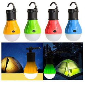 BlueSunshine 4 PCS LED Tent Lamp Camping Light Portable LED Lantern Emergency Light Bulb