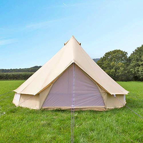 Free Space Outdoor Cotton Canvas Outdoor Camping Bell Tents for 4 Seasons