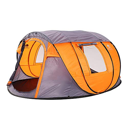 Bravindew Pop up Tents for Camping - 4 to 5 Person Automatic Instant Skywindow Sun Shelter Easy Setup Family Tent for Camping Hiking Beach Park with Stakes & Carrying Bag