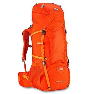 High Sierra Explorer 55L Internal Frame Backpack, Top Loader Hiking Backpack