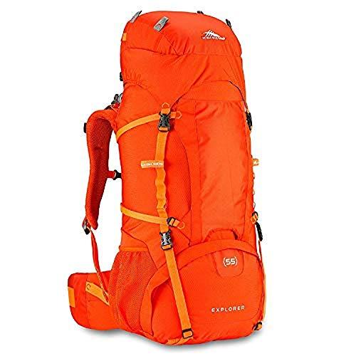 High Sierra Explorer 55L Internal Frame Backpack, Top Loader Hiking Backpack