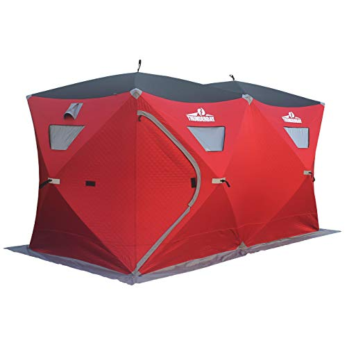 THUNDERBAY 6 Person Insulated Ice Fishing Tent, 300D Oxford Fabric Ice Fishing Shelter