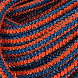 12 Strand Arborist Polyester Rope 1/2 inch by 150 feet Blue Orange