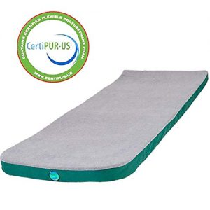 LaidBackPad Memory Foam Camping Sleeping Pad - Memory Foam Mattress for Camping, with Built-in Mattress Connector, The Most Comfortable Portable Sleeping Pad- 24 x 72 x 2⅜ Inches, 8.5 lbs