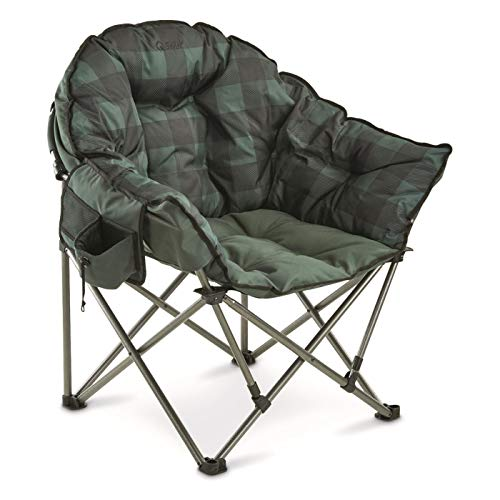 Guide Gear Oversized Club Camp Chair, 500-lb. Capacity, Green Plaid