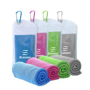 "[4 Pack] Cooling Towel (40""x12""), Ice Towel, Soft Breathable Chilly Towel, Microfiber Towel for Yoga, Sport, Running, Gym, Workout,Camping, Fitness, Workout & More Activities"