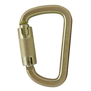 Fusion Climb Tacoma Steel High Strength Auto Lock Modified D-shaped Carabiner