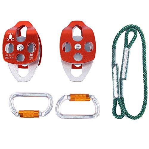 Yaegoo Belay Rigging System Hardware Kit for 5:1 Mechanical Advantage Pulley/Hauling/Dragging System
