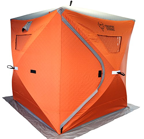 Trophy Strike 106708 Thermal Ice Shelter - Three Person, Flame Retardant Shell with Windows