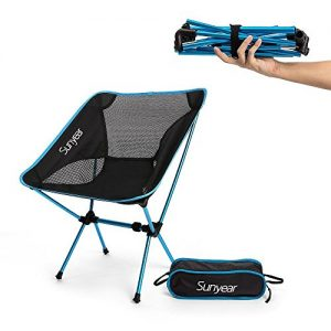Sunyear Lightweight Compact Folding Camping Backpack Chairs, Portable, Breathablem Comfortable, Perfect for The Outdoors, Camping, Hiking, Picnic