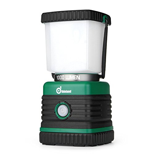 Odoland Ultra Bright 1000 Lumen Camping Lantern with Brightness Adjustment, Battery Powered LED Lantern of 4 Light Modes, Best for Camping, Hiking, Fishing & Hurricane Emergency
