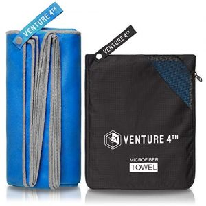 VENTURE 4TH Quick Dry Travel Towel - Fast Drying Ultra Soft Microfiber Towels - Essential for Camping, Backpacking, Yoga, Swimming, Gym, Sports and Beach - 3 Compact Sizes
