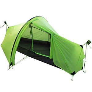 Andaker 2.4lb Ultralight Backpacking Tents One Person Man Hiking Single Camping Tent 15D Ultra-Thin Ripstop Nylon, Double-Side Silicone Coated