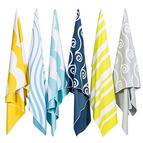 """Easthills Outdoors Microfiber Beach Towels for Men & Women - Compact, Quick Dry, Ultra Absorbent, Sand Free (Extra Large 36"""" x 79"""", Large 30"""" x 60"""")"""