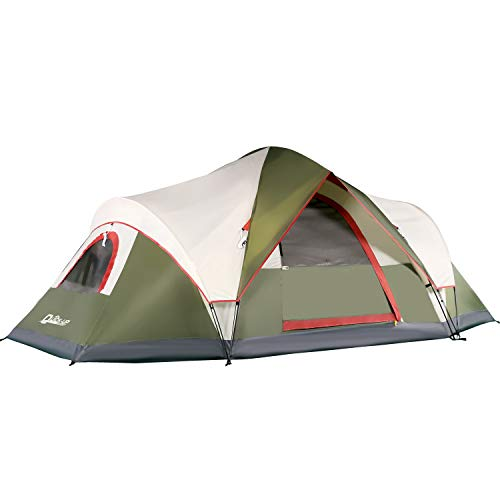 6 Person Tents for Family Camping, Quick Easy Set Up, Instant Pop Up Dome Outdoor Tent, Waterproof with Rainfly and Mesh Roofs & Door & Windows - 13.5' x7'
