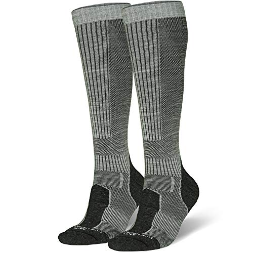 Merino Wool Long Knee-high Outdoor Boot Socks, Hiking, Trekking, Multi Performance for Men, Women Kids