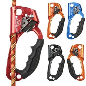 Hooyi SRT Rock Climbing Hand Ascender Alloy Mountaineering Rigging Rope Ergonomic Handled Ascender Rappelling Gear Equipment Left Right Hands Riser Arborist Tree Climber