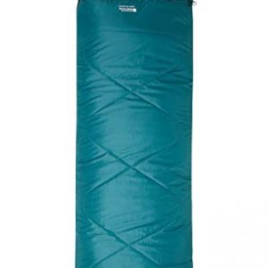 Mountain Warehouse Summit 250 Square Sleeping Bag - Camping Bag Petrol Blue Right Handed Zip - Regular Length (200cm)