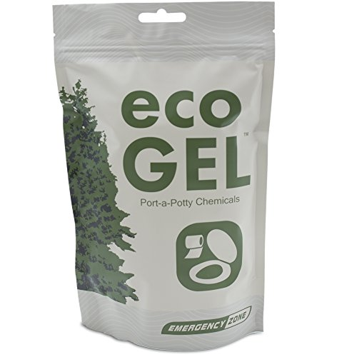 Eco Gel Port-A-Potty and Emergency Toilet Chemicals, Eco-Friendly Liquid Waste Gelling and Deodorizing Powder. Available in Single, 2, 3, 4, 30, and Case Packs