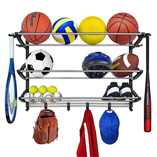 Lynk Rack Organizer Sports Gear Storage-Black
