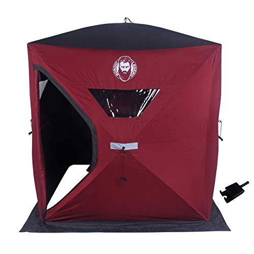 Nordic Legend 2 Person Ice Shelter with Free Universal Drill Adapter